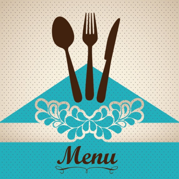 Blue menu cover vector 34 60445