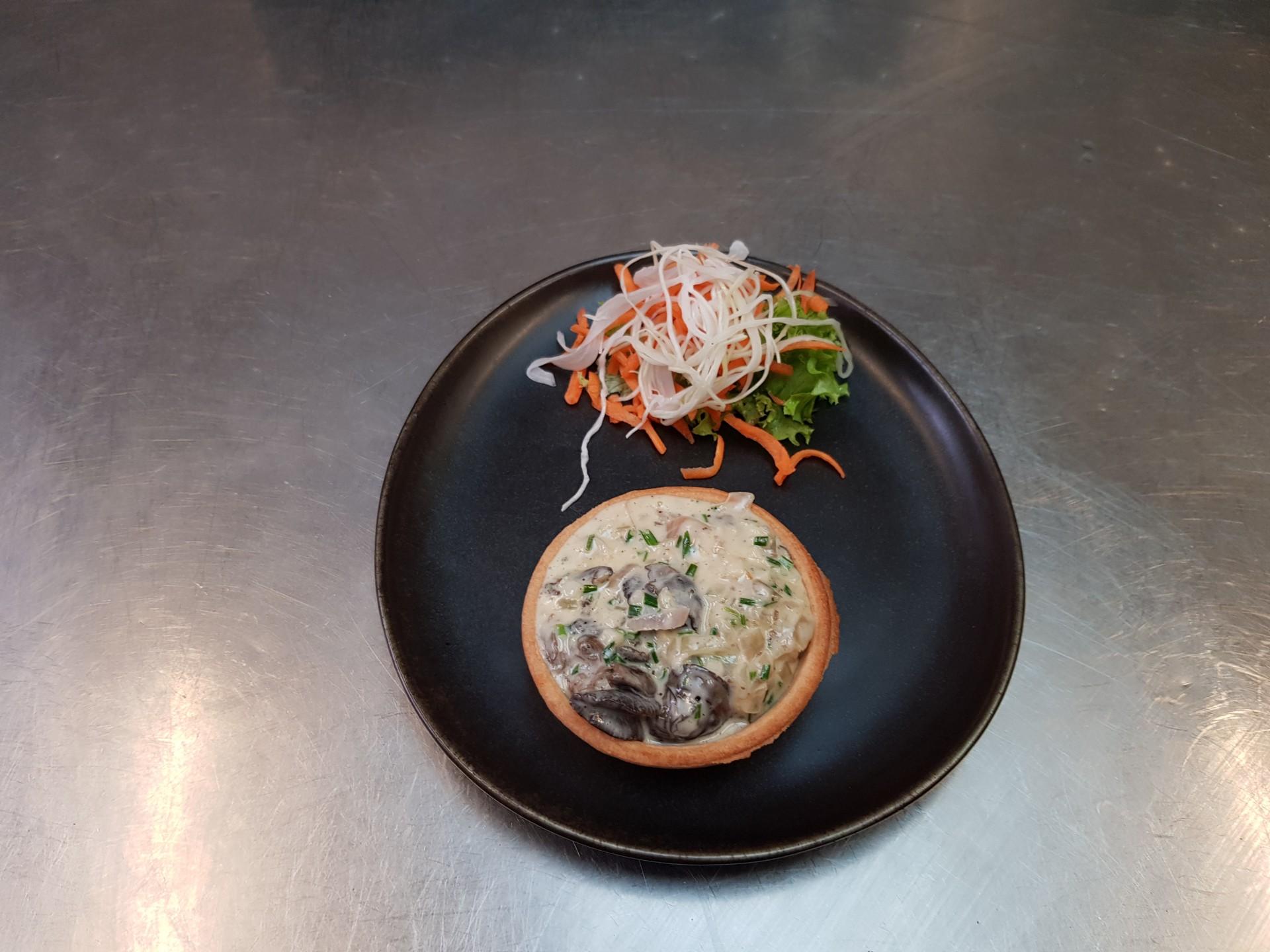 Tartellette escargots citron et ciboulette